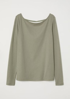 H&M H & M - Lyocell-blend Jersey Top - Green