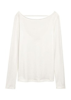 H&M H & M - Lyocell-blend Jersey Top - White