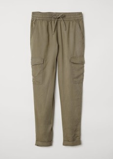H&M H & M - Lyocell Cargo Joggers - Green