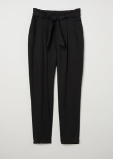 H&M H & M - Lyocell Paper-bag Pants - Black