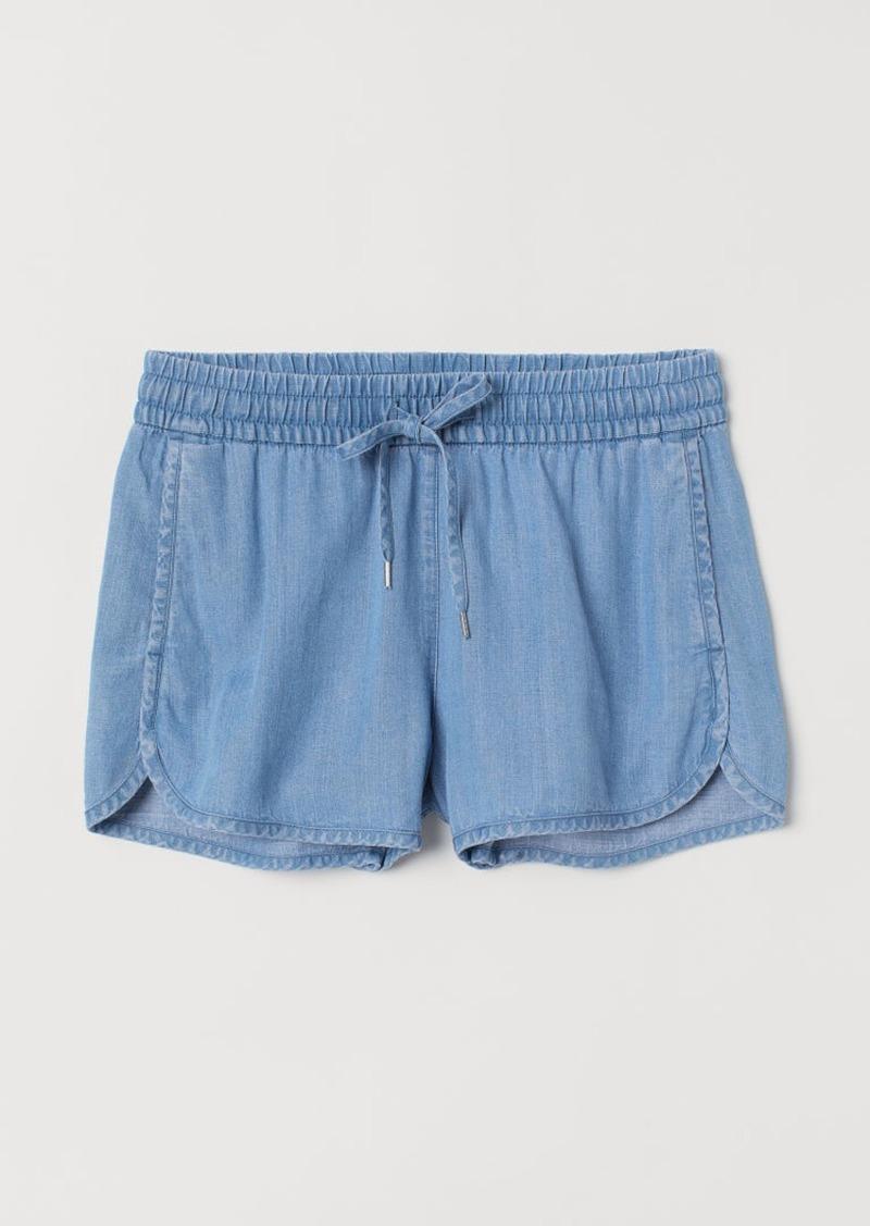 H&M H & M - Lyocell Shorts - Blue