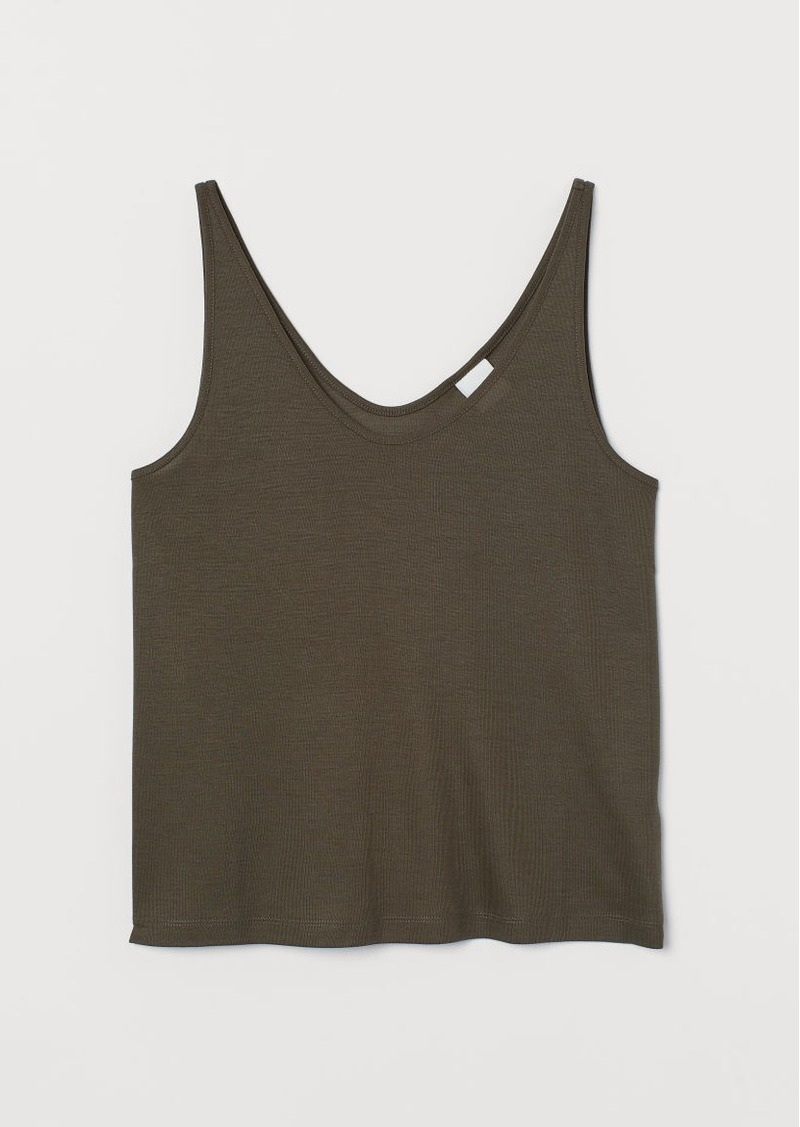 H&M H & M - Lyocell Tank Top - Green