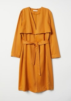 H&M H & M - Lyocell Trenchcoat - Yellow