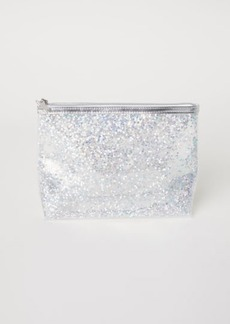 H&M H & M - Makeup Bag with Sequins - Silver