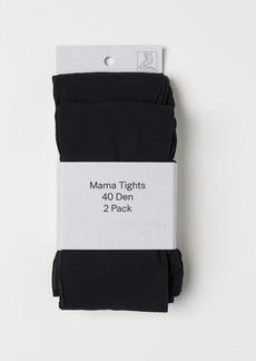 H&M H & M - MAMA 2-pack 40 Denier Tights - Black