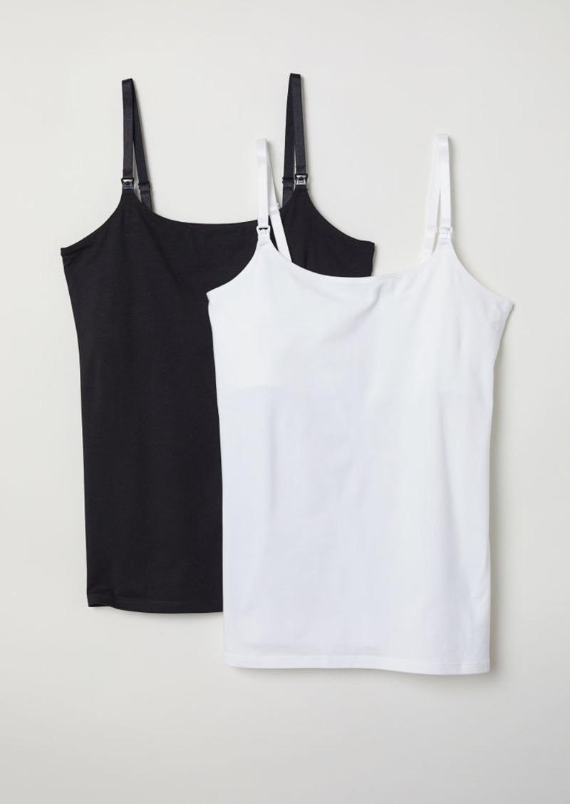 H&M H & M - MAMA 2-pack Nursing Tank Tops - White