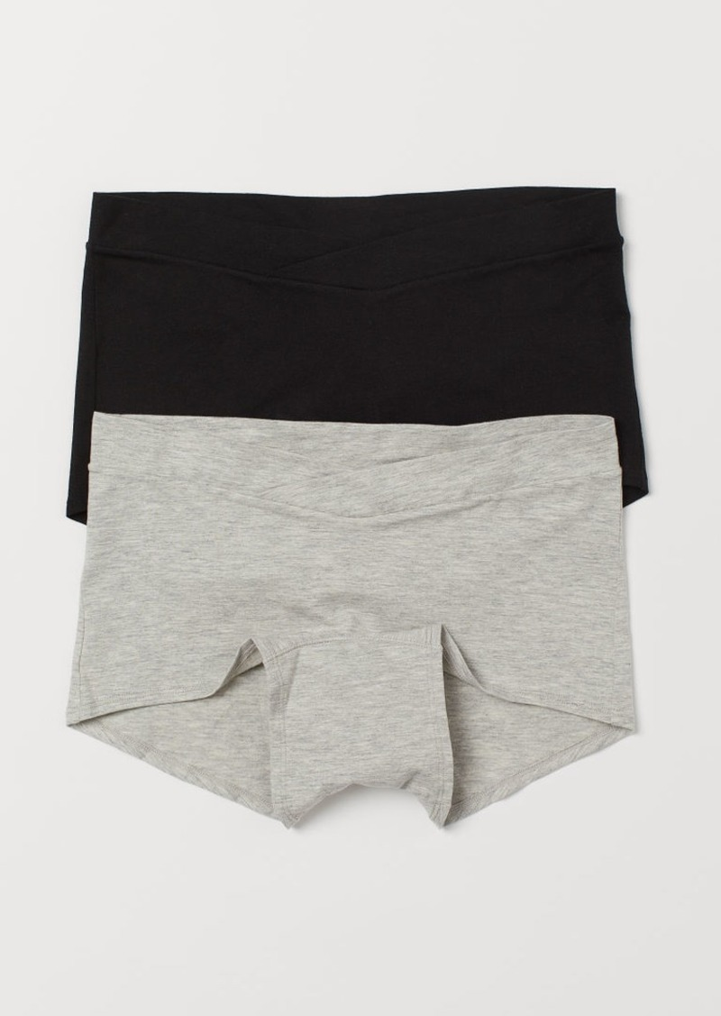 H&M H & M - MAMA 2-pack Shortie Briefs - Gray