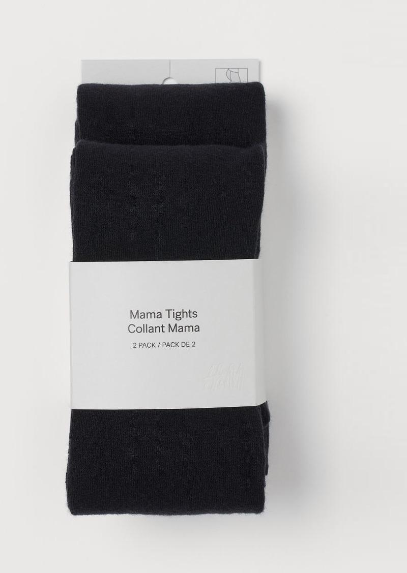 H&M H & M - MAMA 2-pack Tights - Black