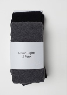 H&M H & M - MAMA 2-pack Tights - Gray