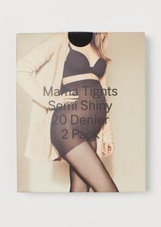 H&M H & M - MAMA 2-pack Tights 20 Denier - Black