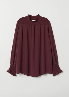 H&M H & M - MAMA Blouse with Smocking - Red
