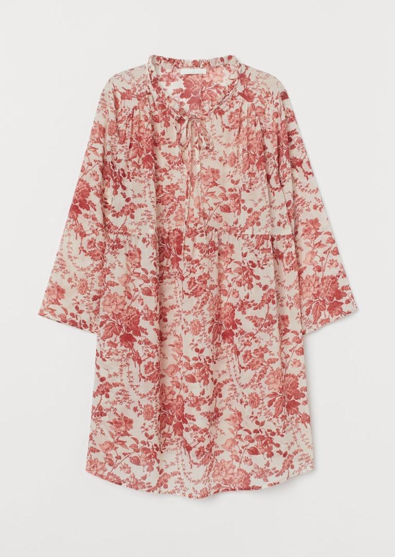 H&M H & M - MAMA Blouse with Ties - Orange