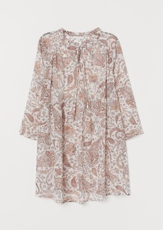 H&M H & M - MAMA Blouse with Ties - White