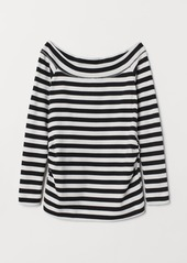 H&M H & M - MAMA Boat-neck Jersey Top - Black