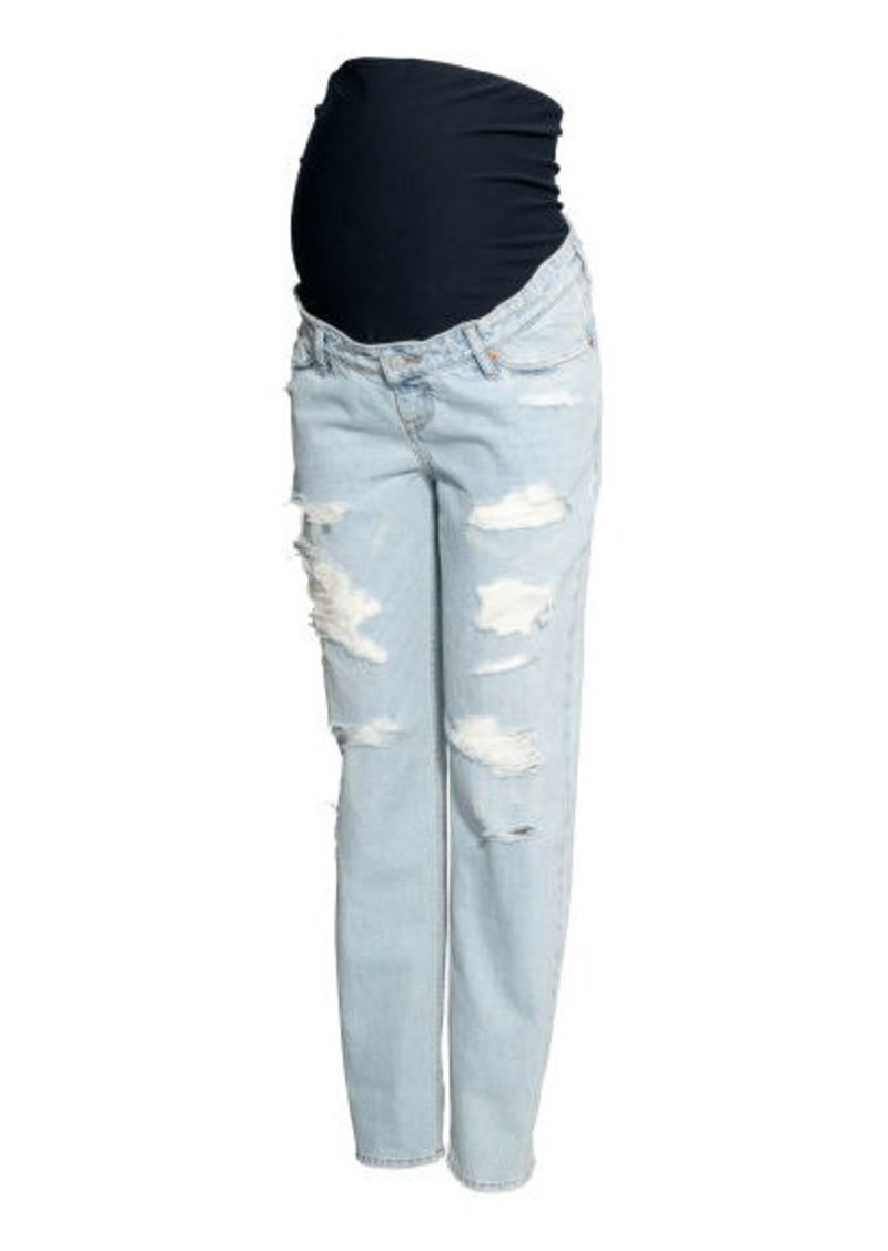 H&M H & M - MAMA Boyfriend Jeans - Blue