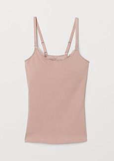 H&M H & M - MAMA Camisole with Shelf Bra - Pink