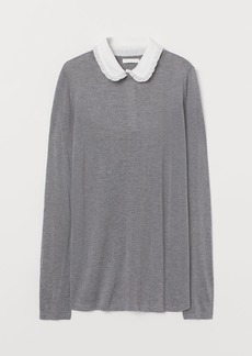 H&M H & M - MAMA Collared Sweater - Gray