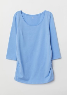 H&M H & M - MAMA Cotton Jersey Top - Blue