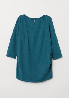 H&M H & M - MAMA Cotton Jersey Top - Turquoise