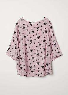 H&M H & M - MAMA Crêped Nursing Blouse - Pink