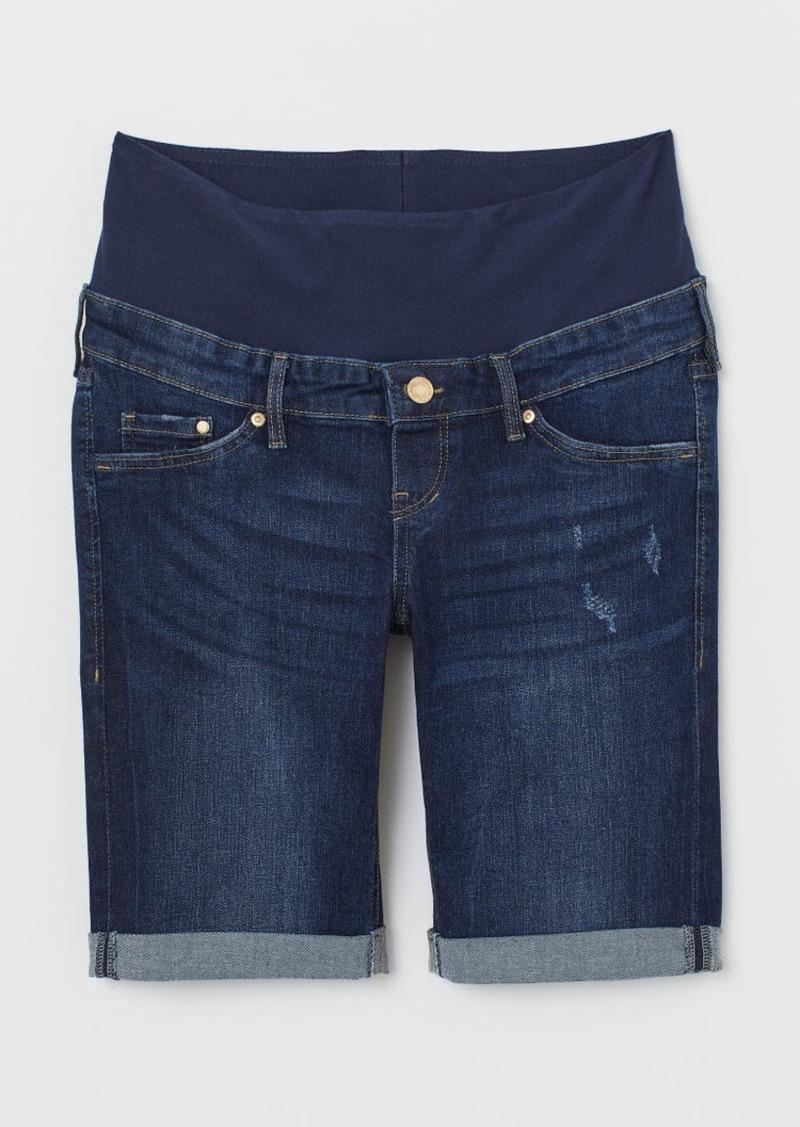 H&M H & M - MAMA Denim Shorts - Blue
