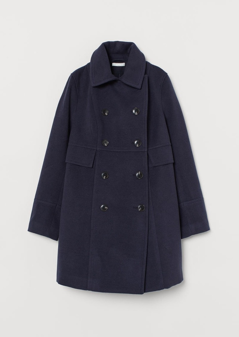 H&M H & M - MAMA Double-breasted Coat - Blue