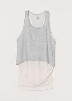 H&M H & M - MAMA Double-layered Sports Top - Beige