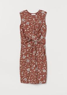 H&M H & M - MAMA Draped Dress - Beige