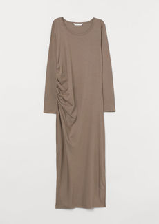 H&M H & M - MAMA Draped Dress - Beige