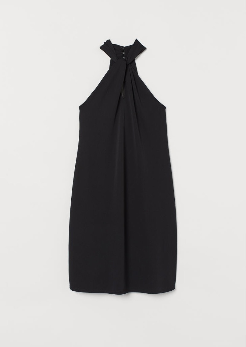 H&M H & M - MAMA Draped Dress - Black