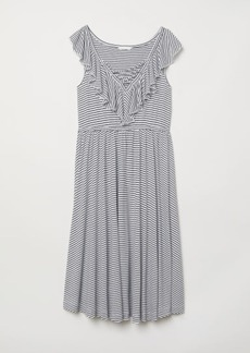 H&M H & M - MAMA Dress with Flounce - White