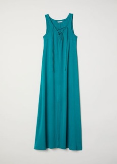 H&M H & M - MAMA Dress with Lacing - Turquoise