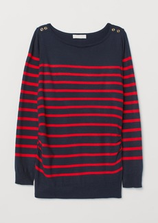 H&M H & M - MAMA Fine-knit Sweater - Blue
