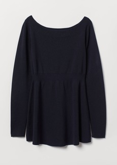 H&M H & M - MAMA Fine-knit Sweater - Blue