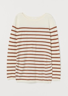 H&M H & M - MAMA Fine-knit Sweater - White