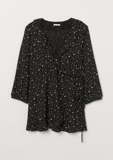 H&M H & M - MAMA Flounced Top - Black