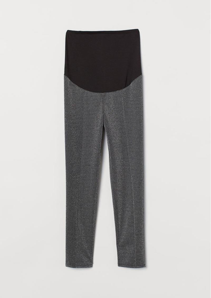 H&M H & M - MAMA Glittery Leggings - Gray