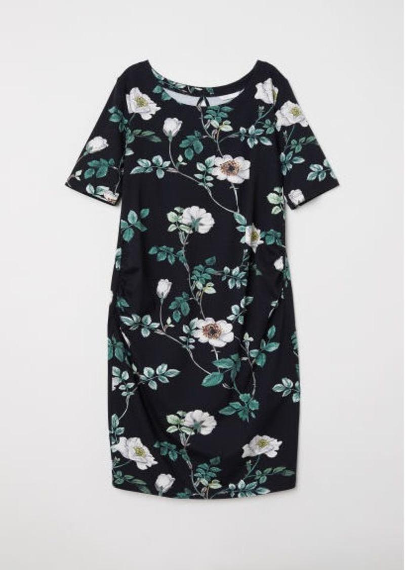 d338ee4c657e1 H&M H & M - MAMA Jersey Dress - Black | Dresses
