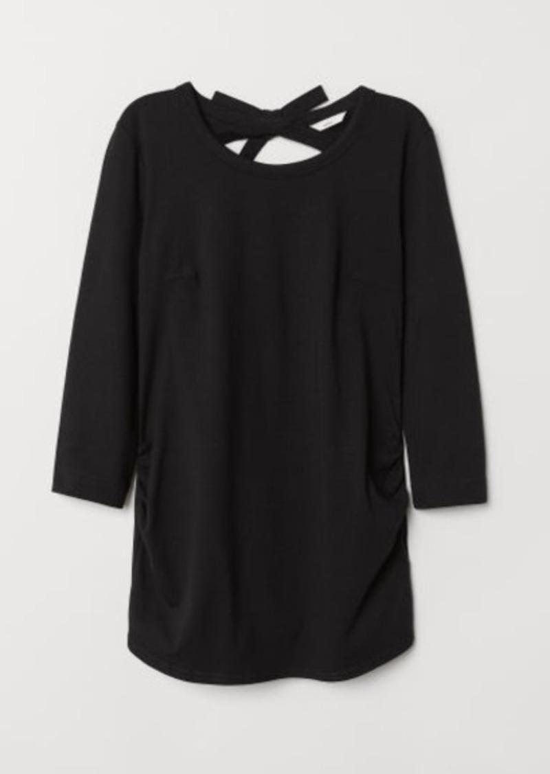 H&M H & M - MAMA Jersey Top - Black