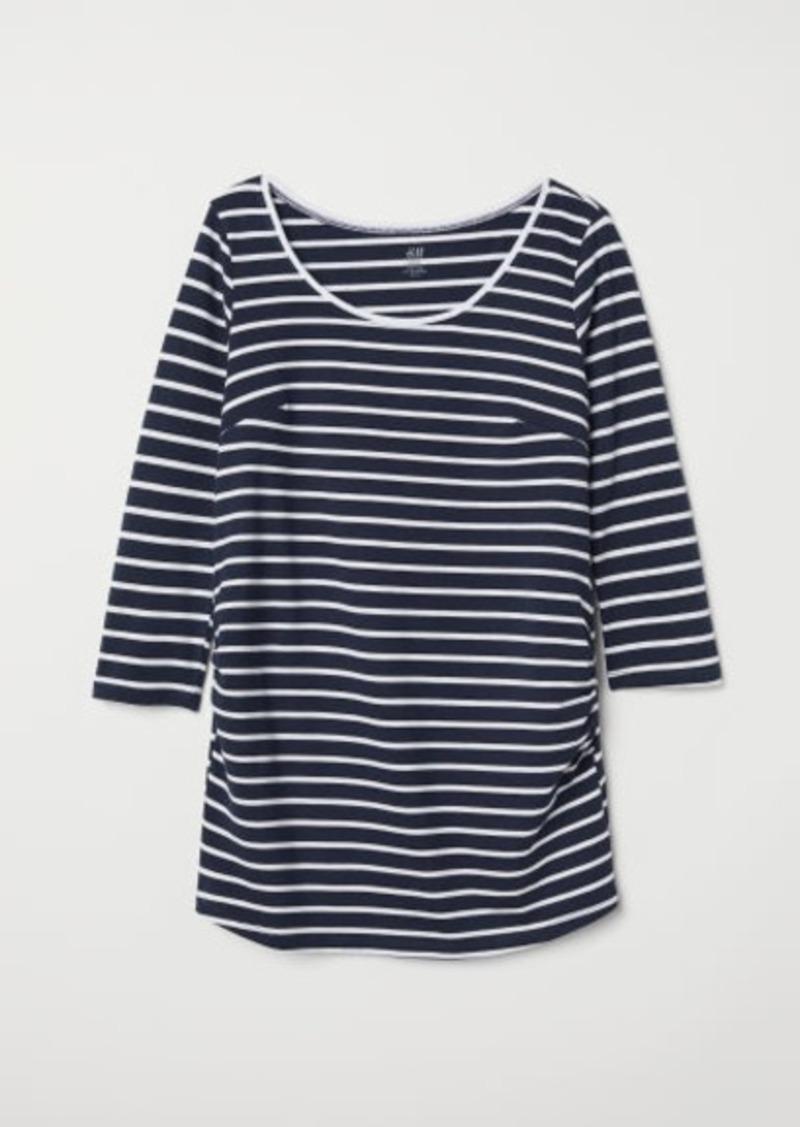 H&M H & M - MAMA Jersey Top - Blue
