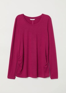 H&M H & M - MAMA Jersey Top - Pink