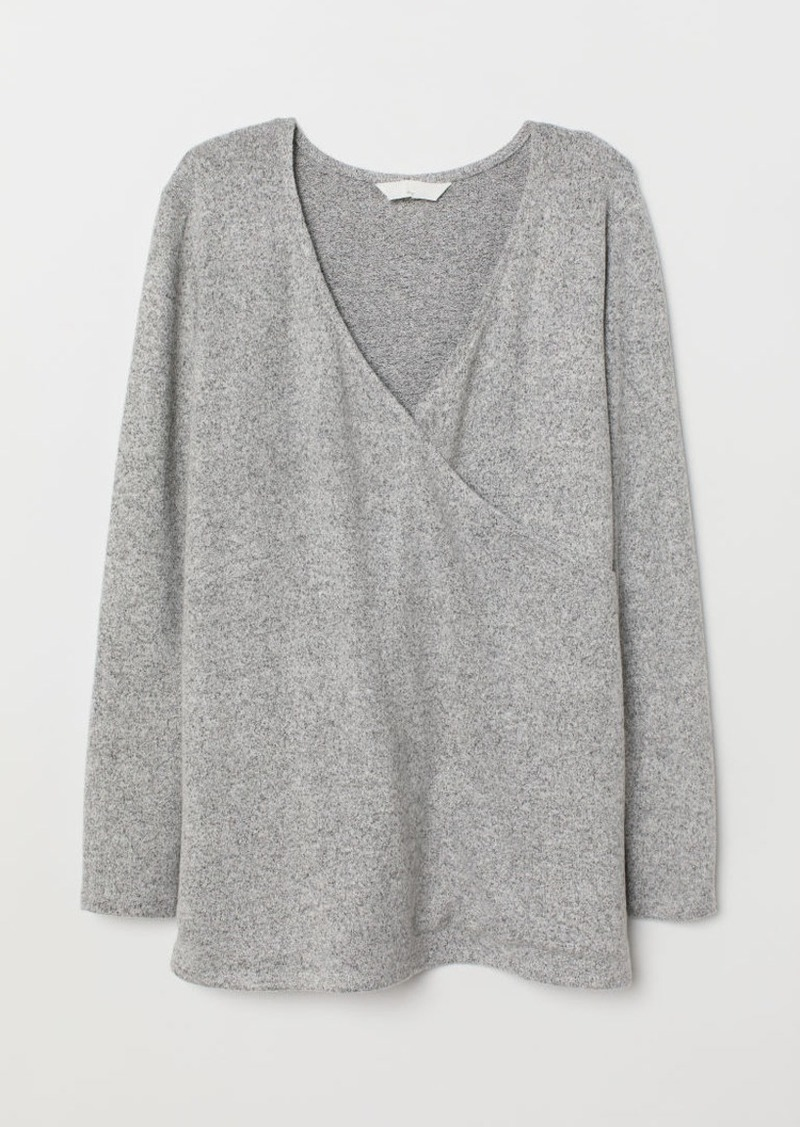 H&M H & M - MAMA Knit Sweater - Gray