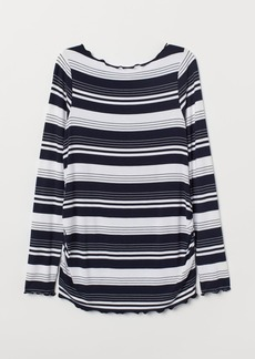 H&M H & M - MAMA Long-sleeved Jersey Top - Blue