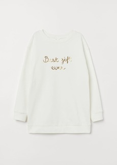 H&M H & M - MAMA Long-sleeved Top - White