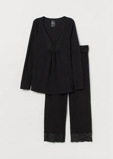 H&M H & M - MAMA Nursing Pajamas - Black