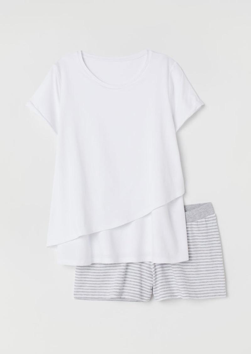 H&M H & M - MAMA Nursing Pajamas - White