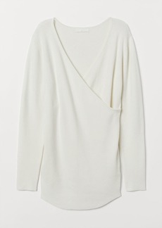 H&M H & M - MAMA Ribbed Sweater - White