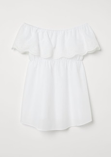 H&M H & M - MAMA Off-the-shoulder Blouse - White