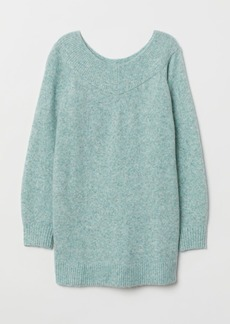 H&M H & M - MAMA Off-the-shoulder Sweater - Green