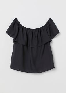 H&M H & M - MAMA Off-the-shoulder Top - Black
